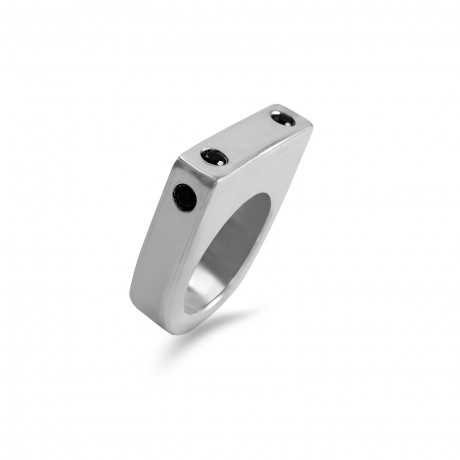 Silver 925 square 3D ring